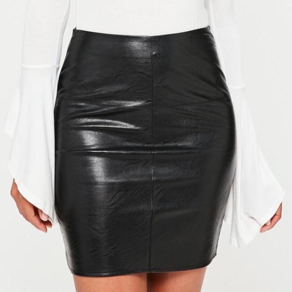 4c6d82e857b missguided petite black faux leather skirt. M 5b1960c05c4452f265889e3f